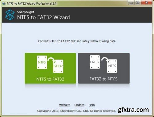 NTFS to FAT32 Wizard Pro 2.4 + Portable