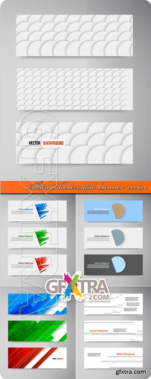 Abstract horizontal banner vector