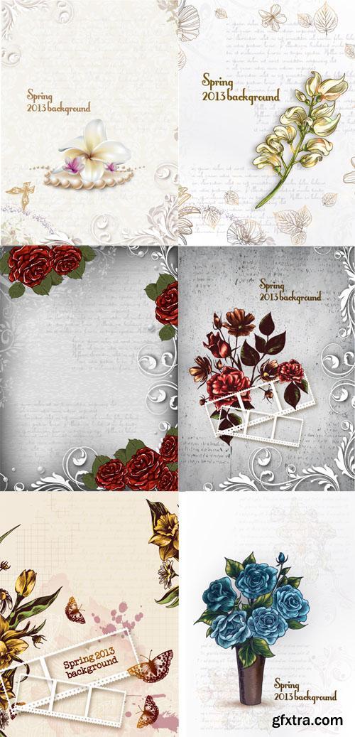 Spring Floral Illystrations Set 6