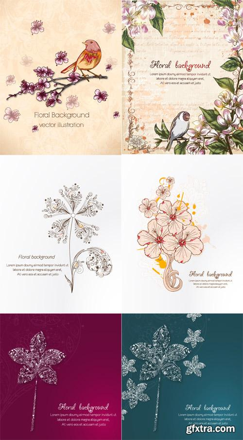 Spring Floral Illystrations Set 12