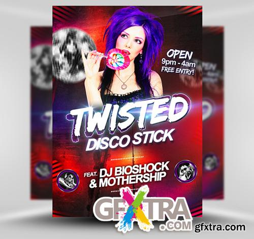 Twisted Disco Flyer Template