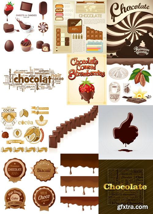 Chocolate collection 25xEPS, AI