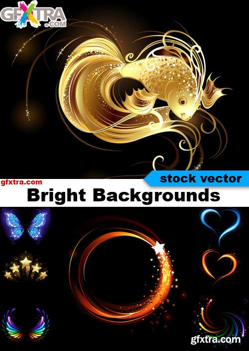Bright Backgrounds - 25 Vector