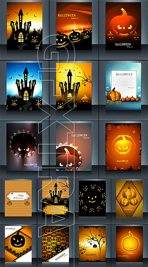 Halloween cards and flyers templates