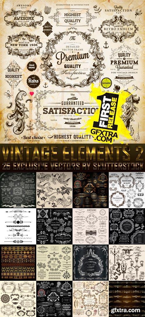 Amazing SS - Vintage Elements 2, 25xEPS