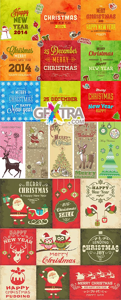 Vintage Christmas - 2014 cards