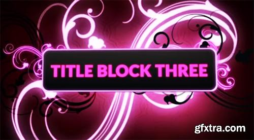 Glow Title Block After Effects Template