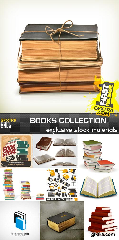Books Collection, 25xEPS, AI