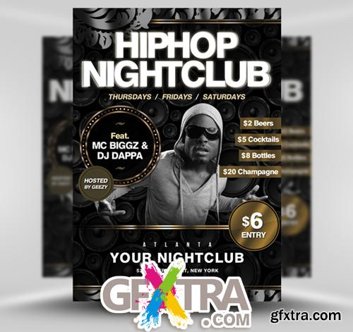 Hip Hop Night Сlub Flyer Template
