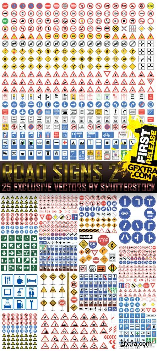 Amazing SS - Road Signs 2, 25xEPS
