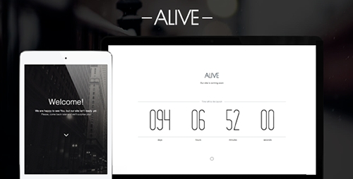 ThemeForest - Alive - Coming Soon Page - RIP