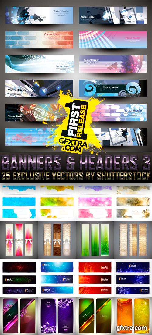 Amazing SS - Banners & Headers 3, 25xEPS