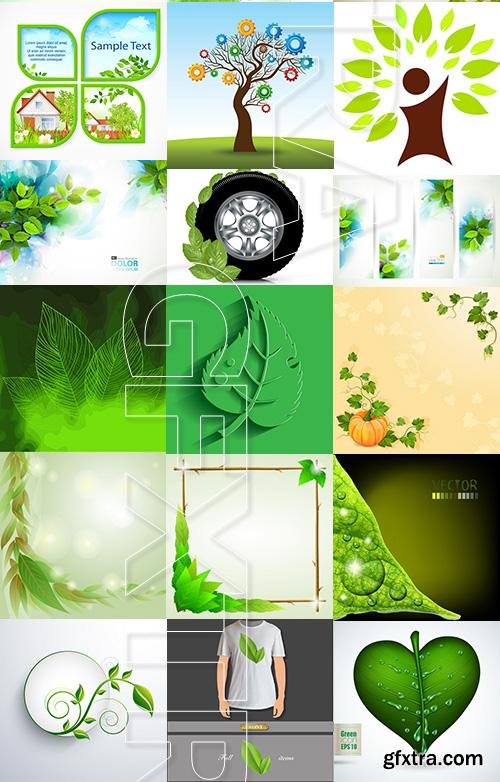 Amazing SS - Green leaves background, 25xEPS