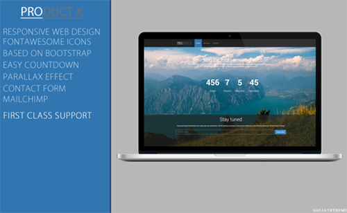 ThemeForest - ProductX - Responsive Coming Soon - RIP