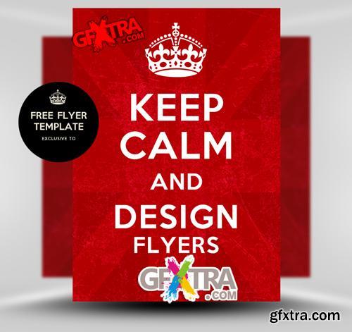 Keep Calm Flyer Template
