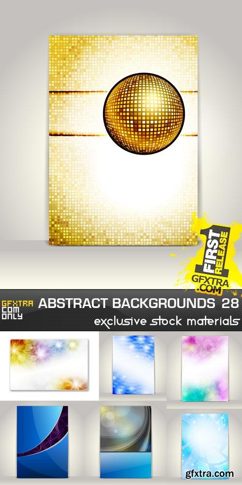 Collection of vector abstract backgrounds vol.28