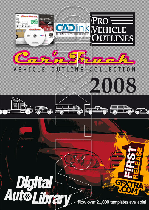 CADlink - Car'n Truck - Pro Vehicle Outlines 2008, 2xDVD