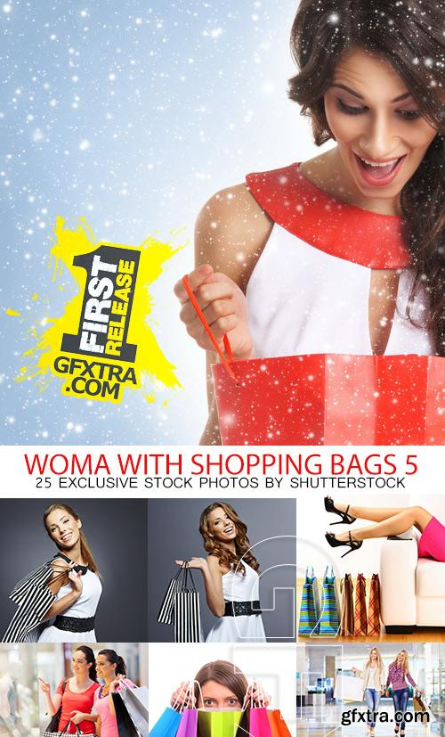 Amazing SS - Woman with shopping bags 5, 25xJPGs