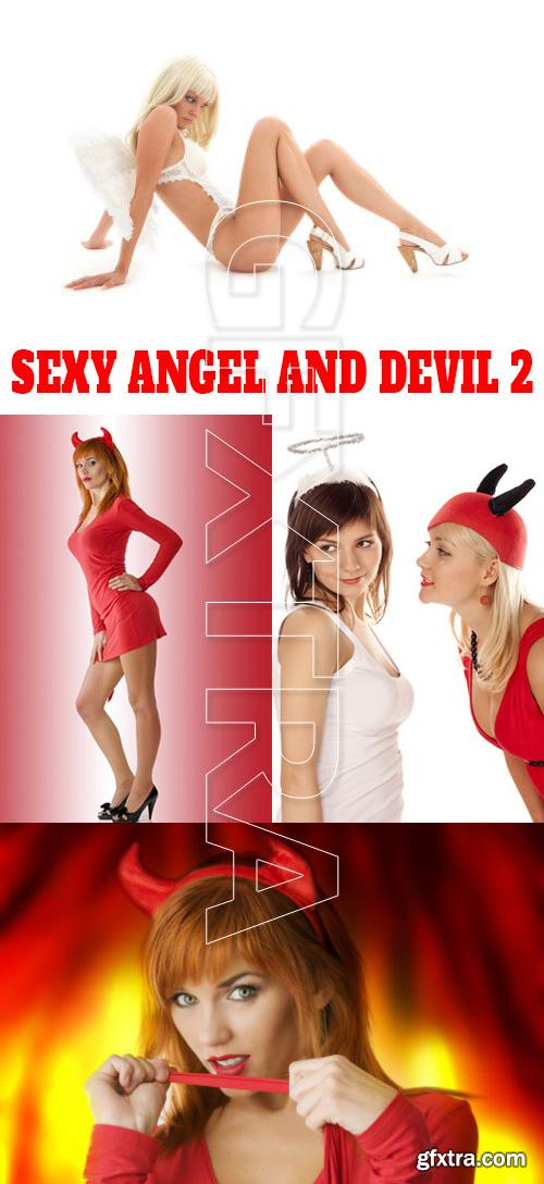 Stock Photo - Sexy Angel and Devil 2