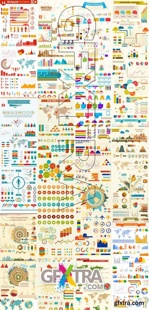 11 Different Infographic Vector Sets