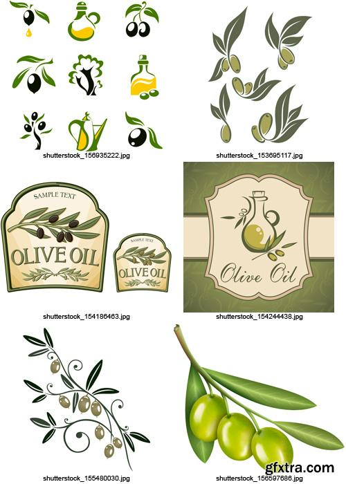 Amazing SS - Collections of Olive Elements 4, 25xEPS