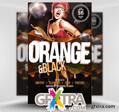 Black Orange Flyer Template