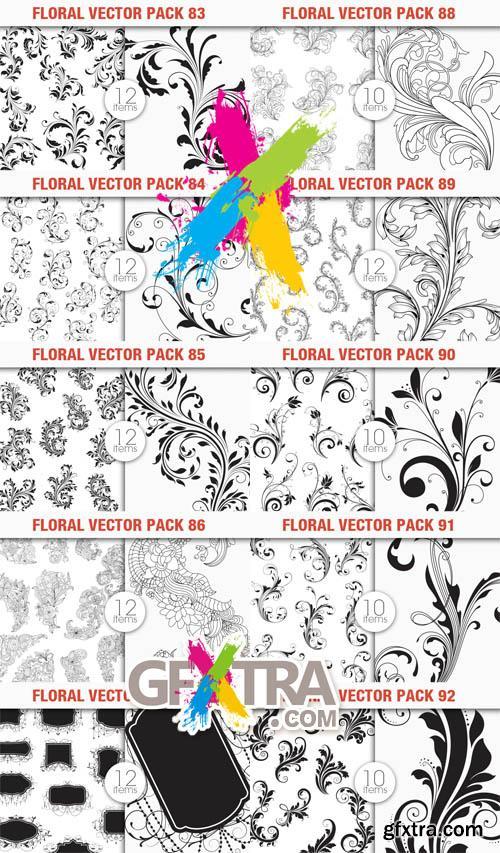 Floral Vector Sets 83-92