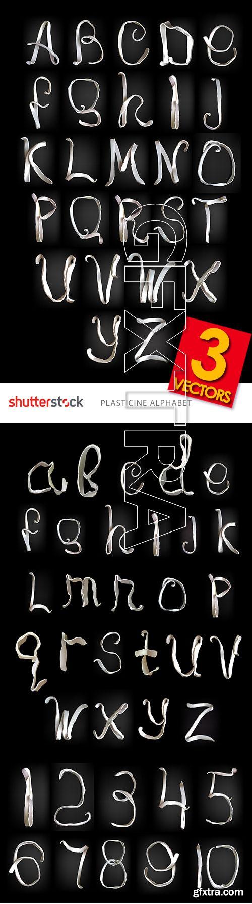 Plasticine Alphabet & Numbers 3xEPS
