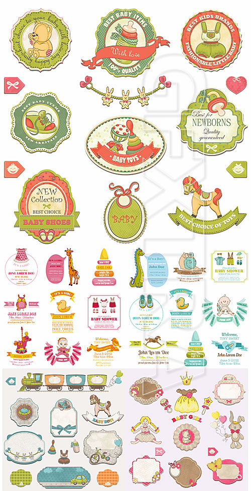 Baby labels and stickers