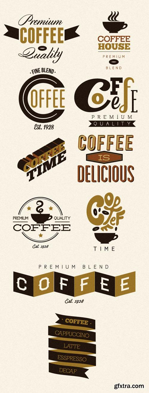 Coffee Labels and Badges Vector Set