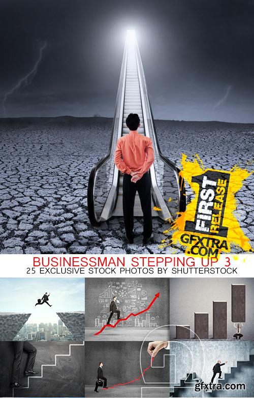 Amazing SS - Businessman stepping up 3, 25xJPGs