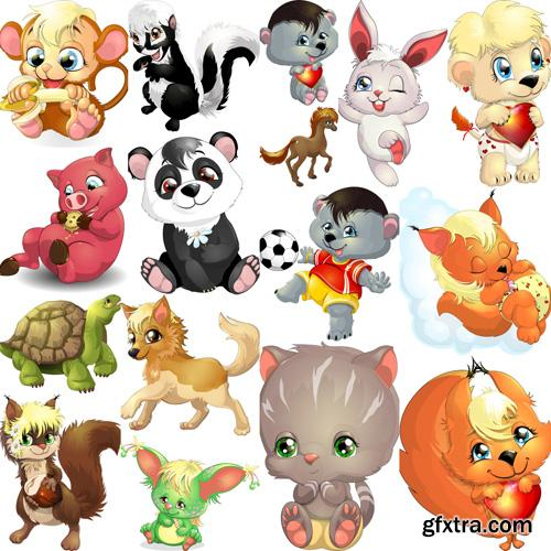 Cartoon Animal #2 - 25xEPS