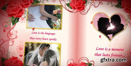 Videohive Wedding Album Red Roses