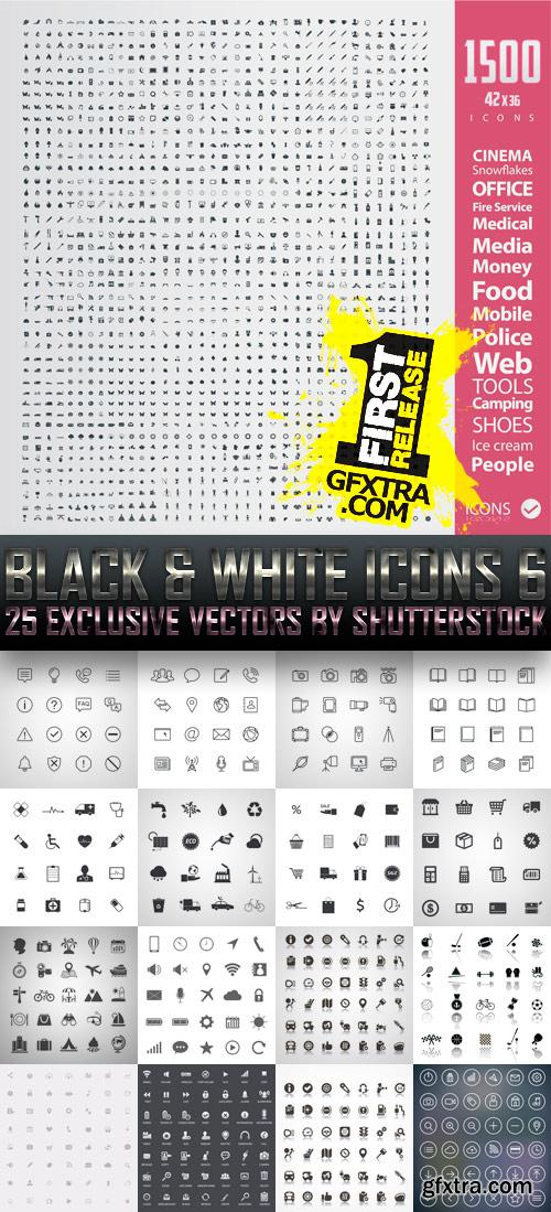 Amazing SS - Black & White Icons 6, 25xEPS