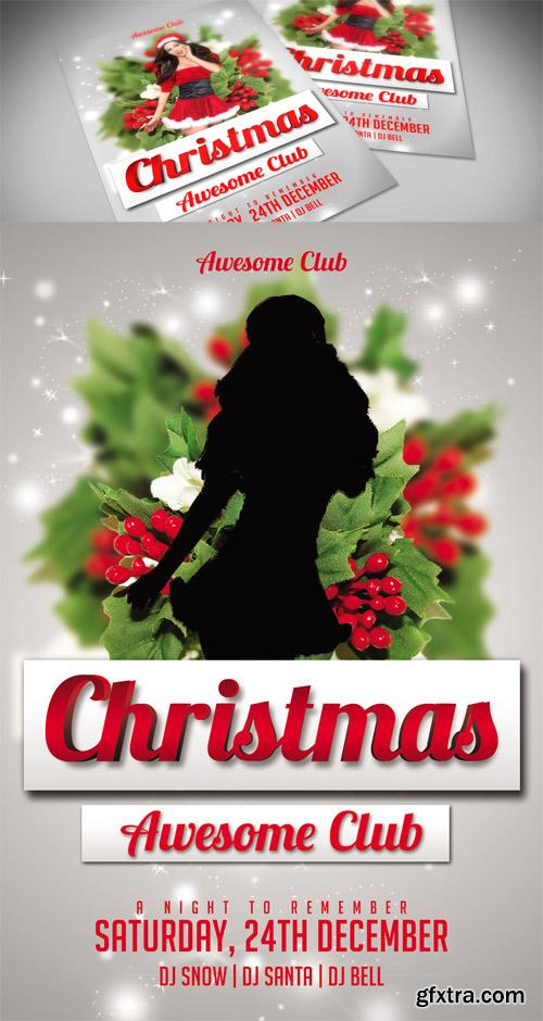 Awesome Club Christmas Flyer Template