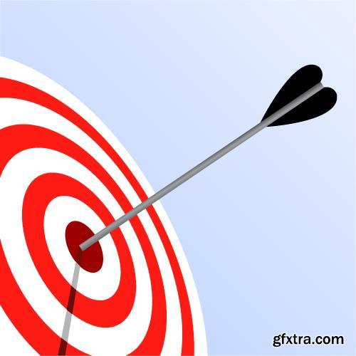 Hitting Target 5xEPS & 20xJPGs