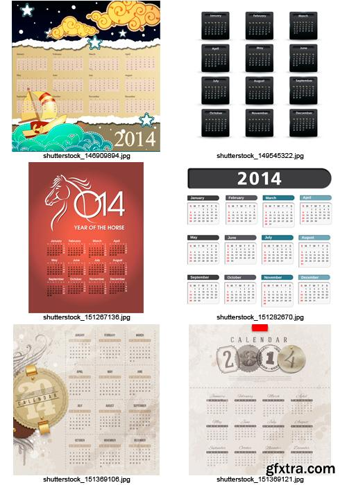 Amazing SS - Calendars for 2014 (vol.5), 25xEPS