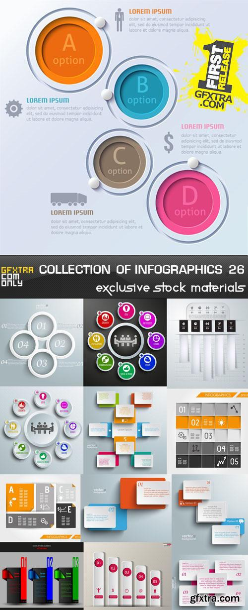 Collection of infographics vol.26, 25xEPS, AI