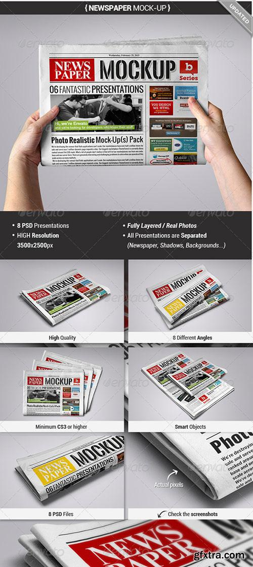 GraphicRiver - Newspaper Mock-Up
