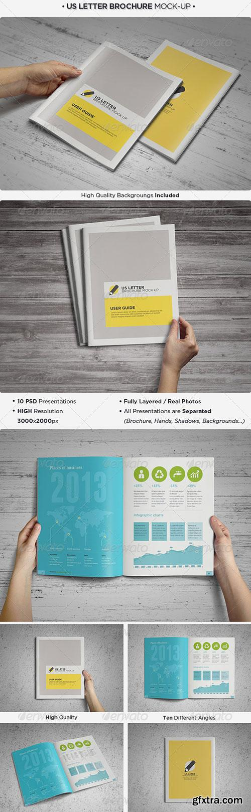 GraphicRiver - US Letter Brochure / Catalog Mock-Up