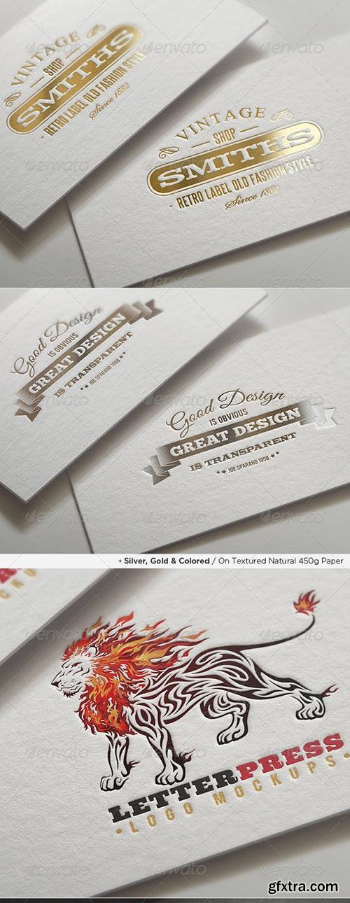 GraphicRiver - Logo Mock-Ups / Letterpress Edition
