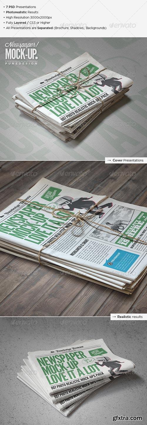 GraphicRiver - Newspaper / Newsletter Mock-Up - 2