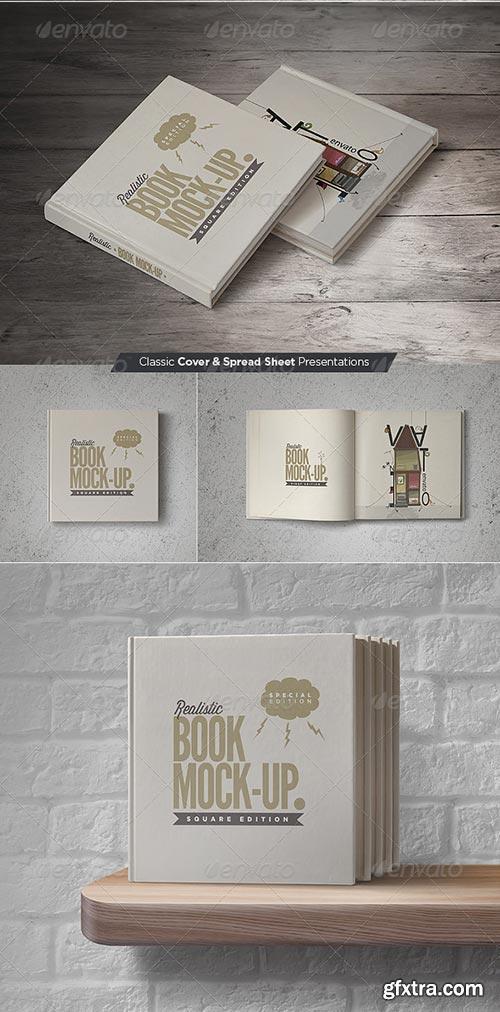 GraphicRiver - Square Book Mock-Up Set 3