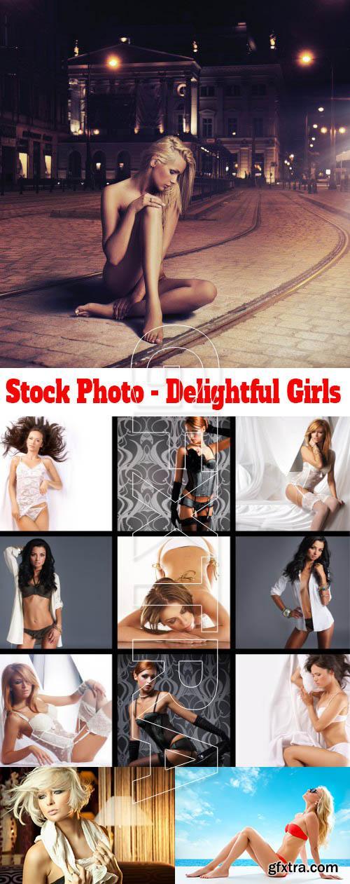 Stock Photo - Delightful Girls
