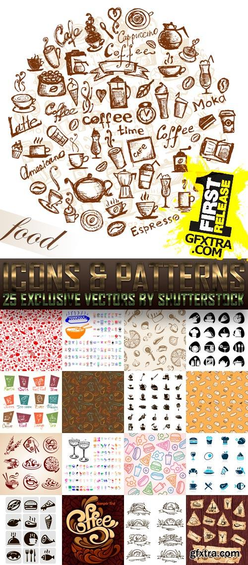 Amazing SS - Food Icons & Patterns, 25xEPS