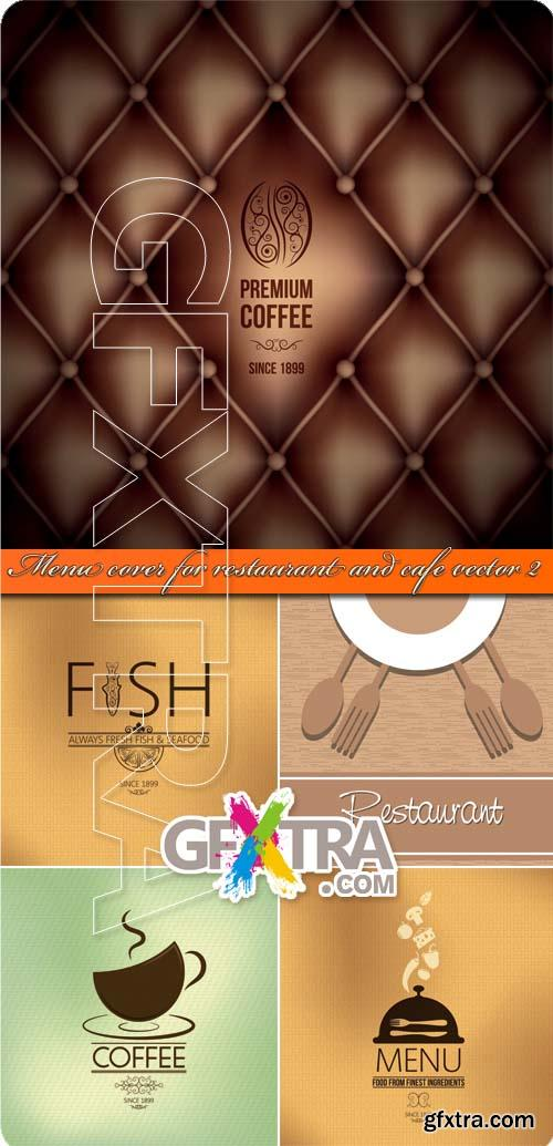 Menu cover for restaurant and cafe vector 2