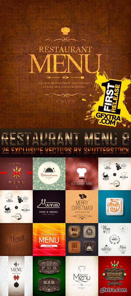 Amazing SS - Restaurant Menu 8, 25xEPS