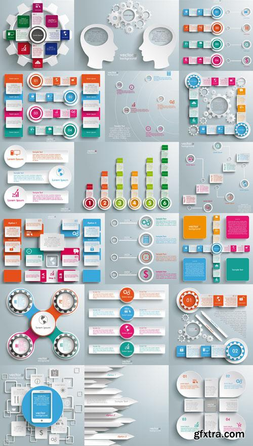 Collection of infographics vol.28, 25xEPS
