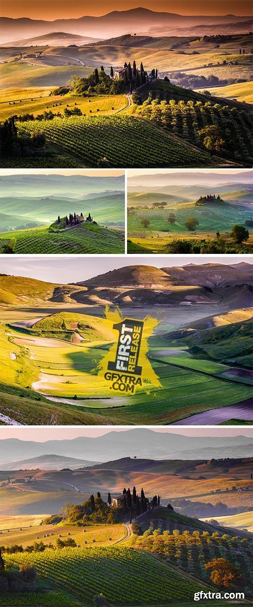 Stock Photo: Landscape, Tuscany - Italy