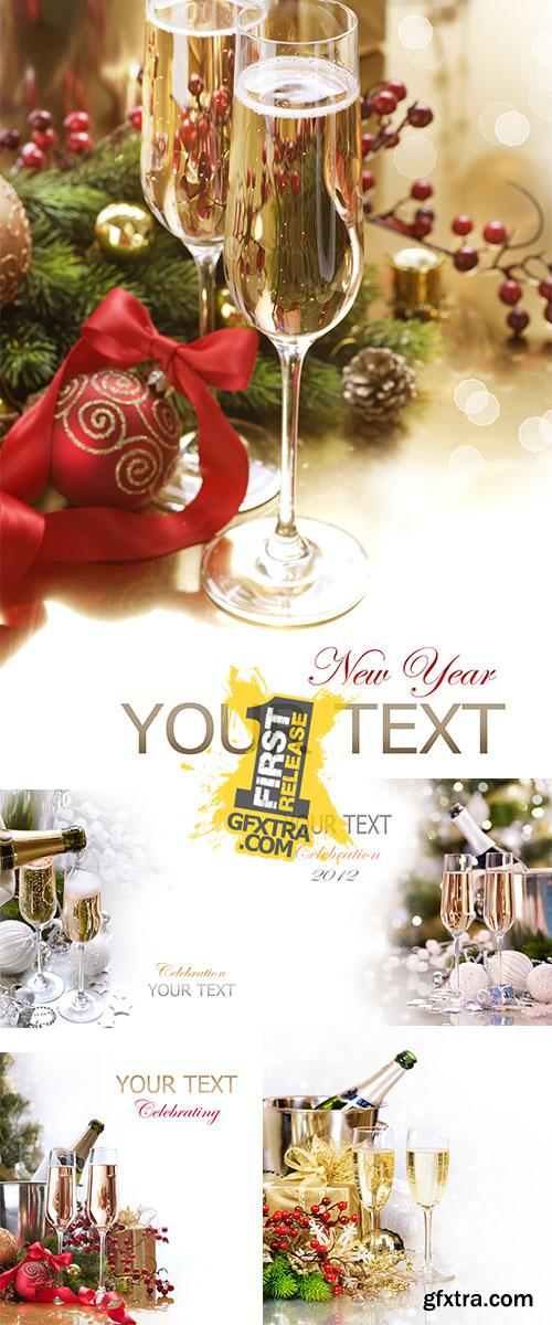 Stock Photo: New year champagne